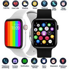 بلوتوث دعوة ساعة ذكية خلفية مخصصة 1.54 بوصة الرياضة Smartwatch الرجال النساء مراقب معدل ضربات القلب الساعات ل IOS أندرويد