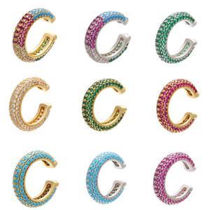 HECHENG 1 шт. круглые радужные цветные ушные реснички оптовая продажа ушные косточки реснички для женщин серьги медные аксессуары ювелирные из...