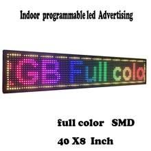 Przewijanie znaków LED pełny kolor SMD PH10mm 40