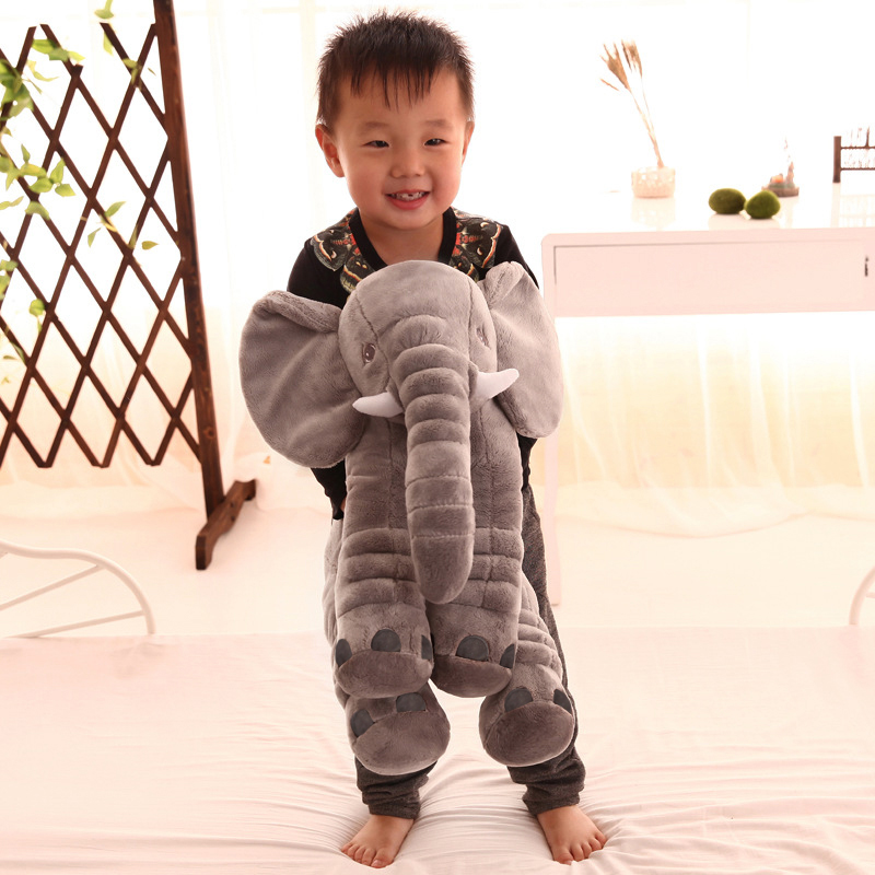 1 PC 40/60cm Cute Infant Super Soft Appease Elephant Playmate Calm Doll Baby Appease Plush Toys Elephant Pillow for Kids Gift-4