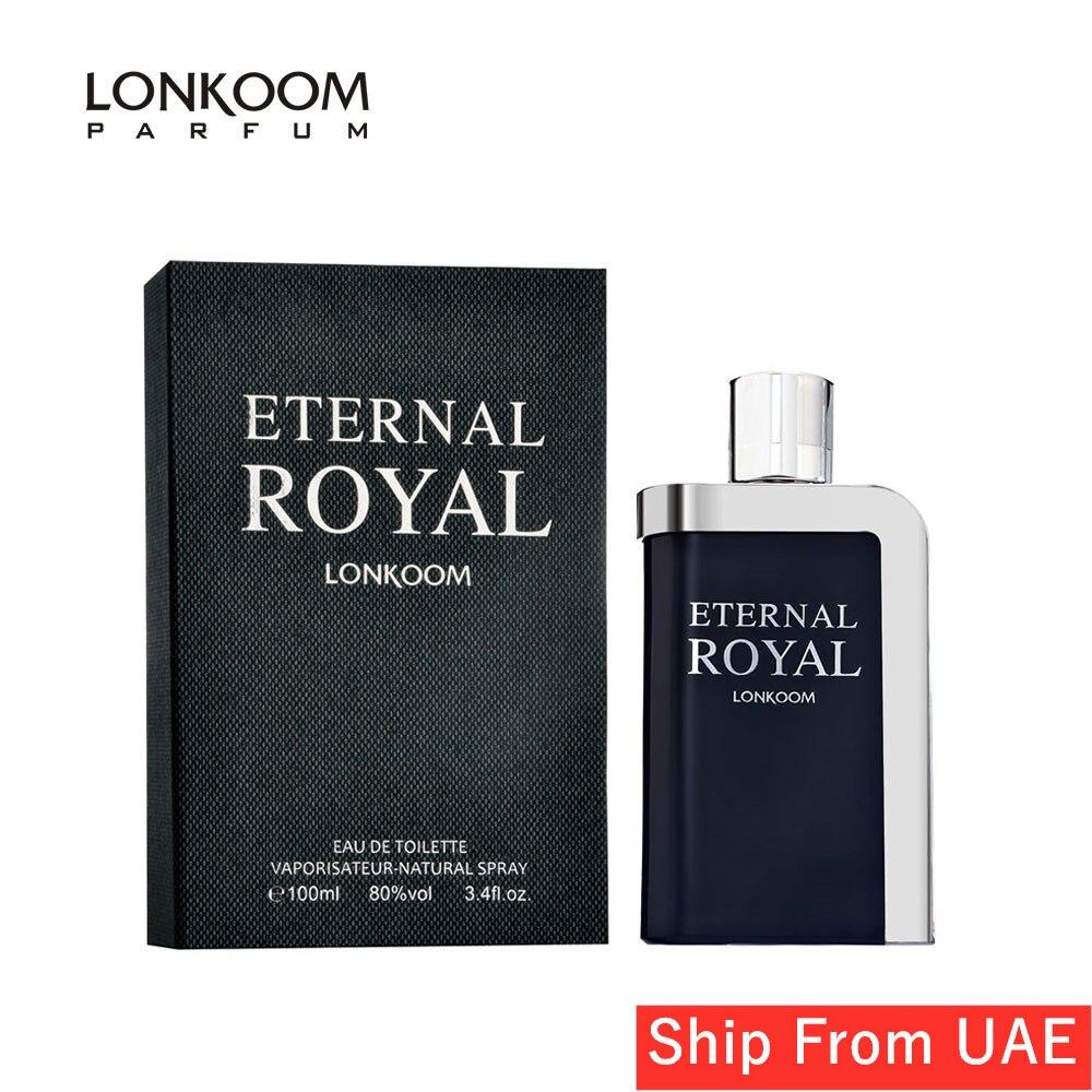 LONKOOM Perfume For Men ETERNAL ROYAL Oriental-Aromatic Scent Fragrance Long Lasting Men's Perfume Spray 100ml Free Shipping