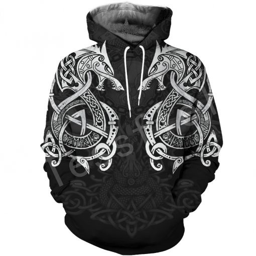 Tessffel Unisex Viking Tattoo Art New Fashion MenWomen HipHop 3D Print Sweatshirts/Hoodie/Jacket Harajuku Casual Style-2