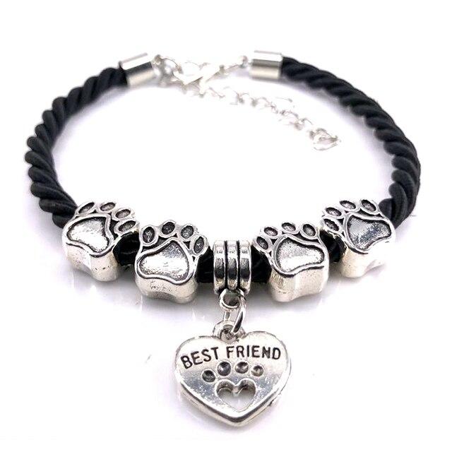 Dog Paw Charm Bracelet  1