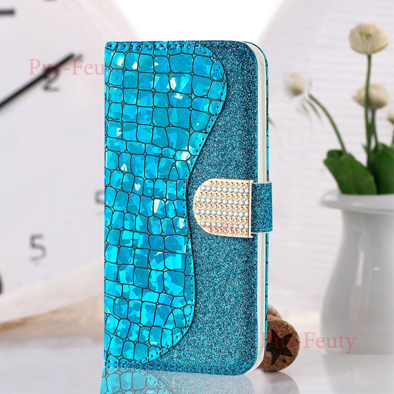 Case For Samsung Galaxy J3 2017 J330 Bling Leather Wallet Magnetic Rhinestone Etui Flip Cover Luxury For Samsung J5 Pro J530FM image