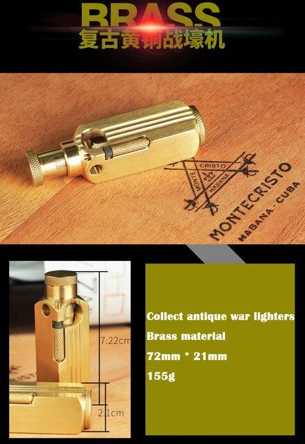 ретро ручной тренч латунная бензиновая зажигалка винтажный кремневый фотография