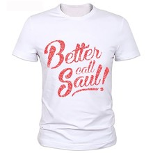 Camiseta de manga corta de BREAKING BAD para hombre, Tops de cuello redondo, camisetas de moda, BETTER CALL SAUL