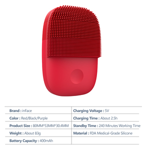Image 5 - Inface Facial Cleansing Brush Upgrade Version Electric Sonic Silicone Face Brush Deep Cleansing Facial Cleanser