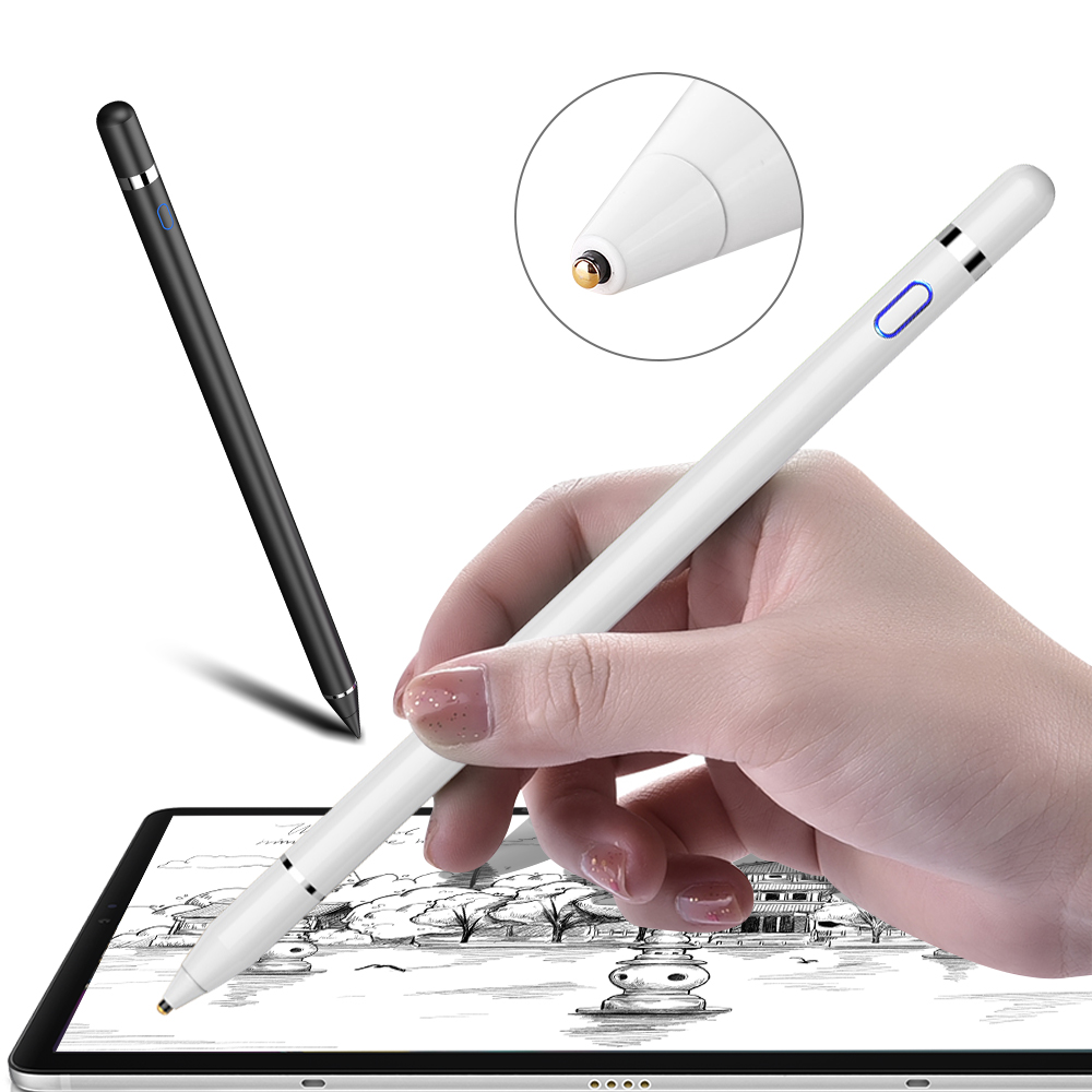 Active Stylus Touch Pen for Apple <font><b>iPad</b></font> <font><b>Pro</b></font> 11 12.9 <font><b>10.5</b></font> 9.7 2017 2018 Smart Capacitance <font><b>Pencil</b></font> For <font><b>iPad</b></font> 10.2 mini 5 4 Air 1 2 3 image
