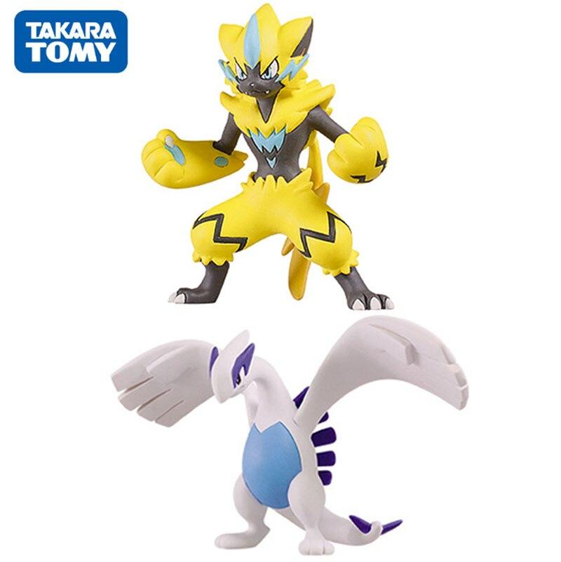 TAKARA TOMY Pokemon Zeraora Lugia Action Figure Anime Figure Collectible Gifts Toys For Kids