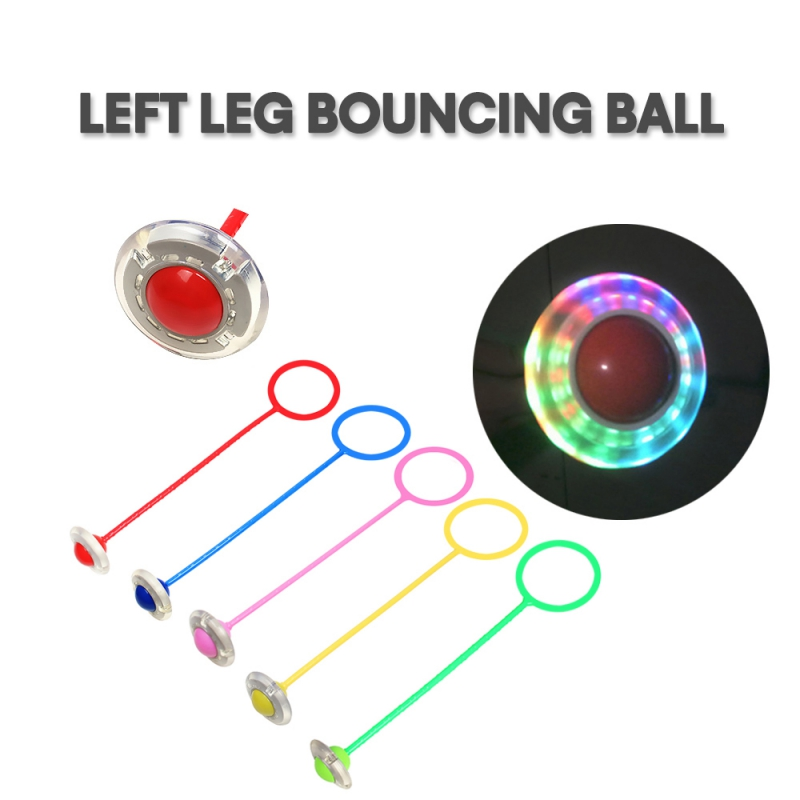 Flashing Jumping Ball Toy Adults Children Bouncy Hopper Ball For Indoors Outdoors Sport Fitness 1PC