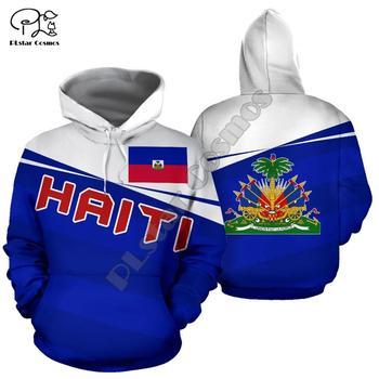 Men Women Haiti Caribbean Sea print 3D Hoodies Funny country flag Sweatshirt Fashion Hooded Long Sleeve unisex Pullover funny 3d bitcoin print hoodies sweatshirt unisex hooded pullover novelty print autumn tracksuits men casual long sleeve top