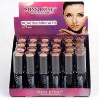 Makeup Rotating Concealer Box Face Base Perfect Covers Concealer Foundation Oil Free Waterproof Matte Wear Concealer Stick