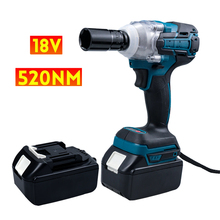 520N.m 18V Cordless Electric Impact Wrench With Rechargeable Battery Impact Drill Brushless