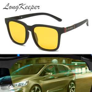 LongKeeper Classic TR90 Polarized Yellow Lens Sunglasses Men Women Anti-glare Night Vision Driving Sun Glasses UV400 Oculos