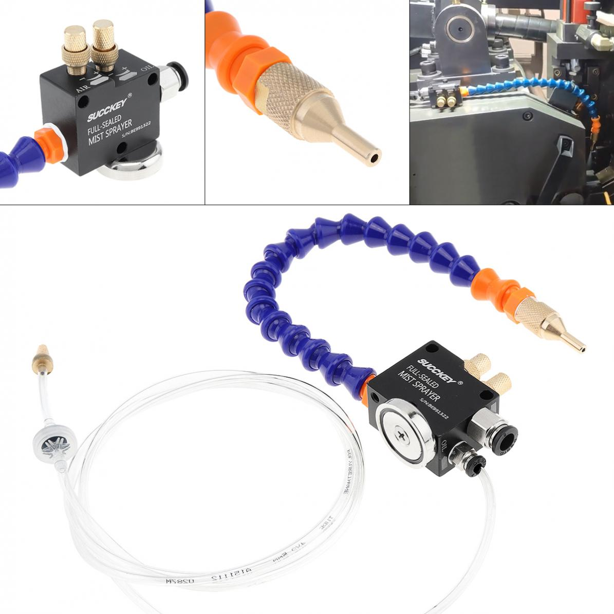 30cm Mist Coolant Lubrication Spray System With Adsorbable Magnetic Base For Metal Cutting Engraving Cooling Machine / CNC Lathe