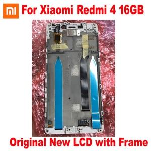 Image 3 - 원래 새로운 최고의 Xiaomi Redmi 4 16 기가 바이트/4 프로 프라임 32 기가 바이트 LCD 디스플레이 10 포인트 터치 스크린 디지타이저 어셈블리 센서 프레임