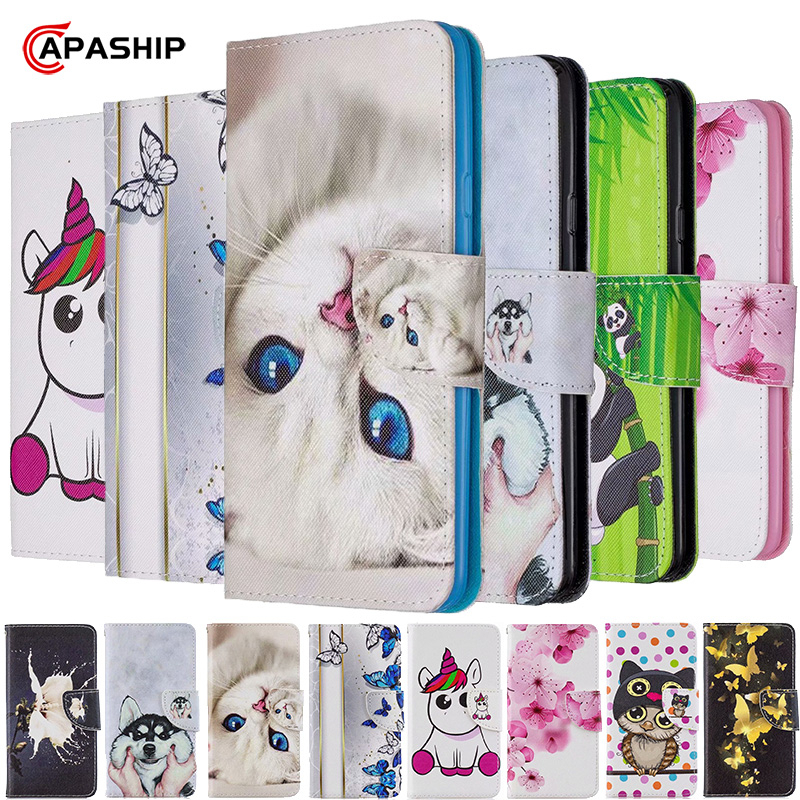 3D Wallet Flip Case For RedMi Note 5 6 7 8 Pro 8Pro GO K20 4X 4A 5A 6A 7A 8A 8T Cases Magnetic Leather Cover RedMi7 RedMi8 Coque image
