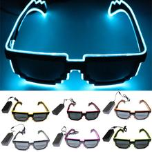 EL Cold Light Source Voice-activated Luminescent Glasses Shade For The Club Party + Sound Controller