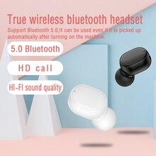 Мини 5,0 беспроводные Bluetooth наушники в ухо спортивные игры с микрофоном гарнитура наушники стерео звук наушники для всех телефонов