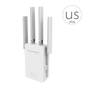 Image 5 - المملكة المتحدة التوصيل الرئيسية البسيطة 300Mbps موزع إنترنت واي فاي مكرر إشارة موسع 4 هوائيات خارجية جدار مكرر