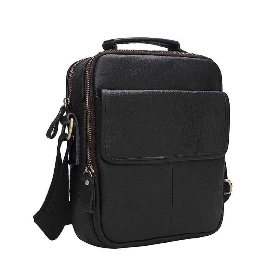 GO-LUCK marka oryginalna top skórzany uchwyt na co dzień torebka biznesowa Tote mężczyźni torba na ramię crossbody męskie torby kurierskie Ipad Pack