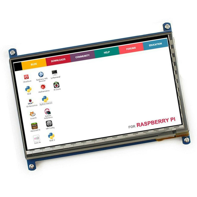"""7"""" HDMI USB LCD Display Monitor 1024*600 HD Capacitive Touch Screen portable monitor Accessory For Raspberry Pi drive-free 3"""