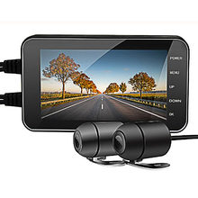 DVR 카메라 IP65 방수 운전 레코더 와이파이 1080P 듀얼 오토바이 대시 캠