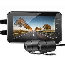 Dvr Camera IP65 Waterdichte Rijden Recorder Wifi 1080P Dual Motorfiets Dash Cam