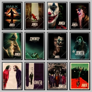 2019 New Movie Joker Poster kraft paper Joker Origin Movie Art Print Cartoon Wall Picture Batman's Enemy Old Film Poster(China)