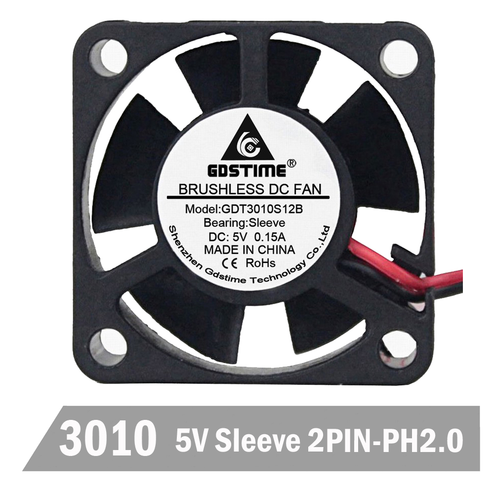 30x30x10mm 5V mini 3cm 30mm 3010S Brushless DC Cooling Cooler Fan DuPont