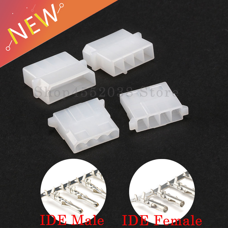 10 Sets ATX / EPS Molex 5.08 mm 4 Pin Male / female Power Connector Housing + Terminals for Computer ATX EPS Power