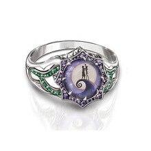 Модные Винтажные серебристый цвет прозрачный Циркон кошмар до Рождества обручальное кольцо для женщин Хэллоуин вечерние кольца подарок ювелирные изделия