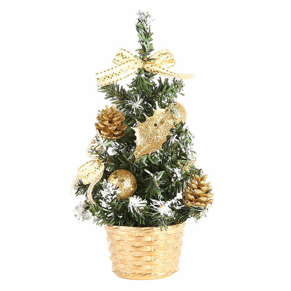 Artificial Tabletop Mini Christmas Tree Decor Festival Miniature Tree 20cm weddings Decor Party Christmas Tree Decoration 19Oct2