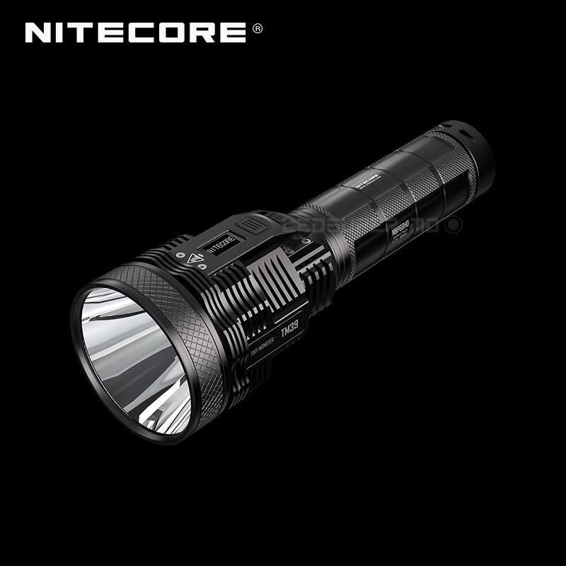 Linterna multifunción Nitecore TM39 de 1500 lúmenes con pantalla OLED y paquete de batería de 5200 metros 1 Uds linterna convoy linterna Lanterna conductor nuevo Firmware 7135x3/7135x4/7135x6/7135 8x17mm de accesorios de iluminación