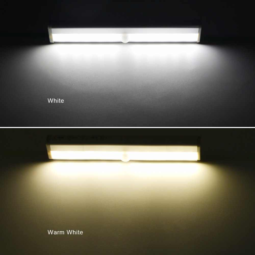 Sensor Lemari Lampu Dinding Kaku Strip Bar Dapur Lemari Darurat Malam Pencahayaan Portabel LED Di Bawah Kabinet Di Mana Saja Lampu