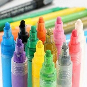 Image 3 - 24 Màu Sắc Sơn Acrylic Bút Bút Bút Sơn Cho Đá Tranh Vải Thủ Công Diy Thẻ Làm Nghệ Thuật Đồ Dùng Học Tập