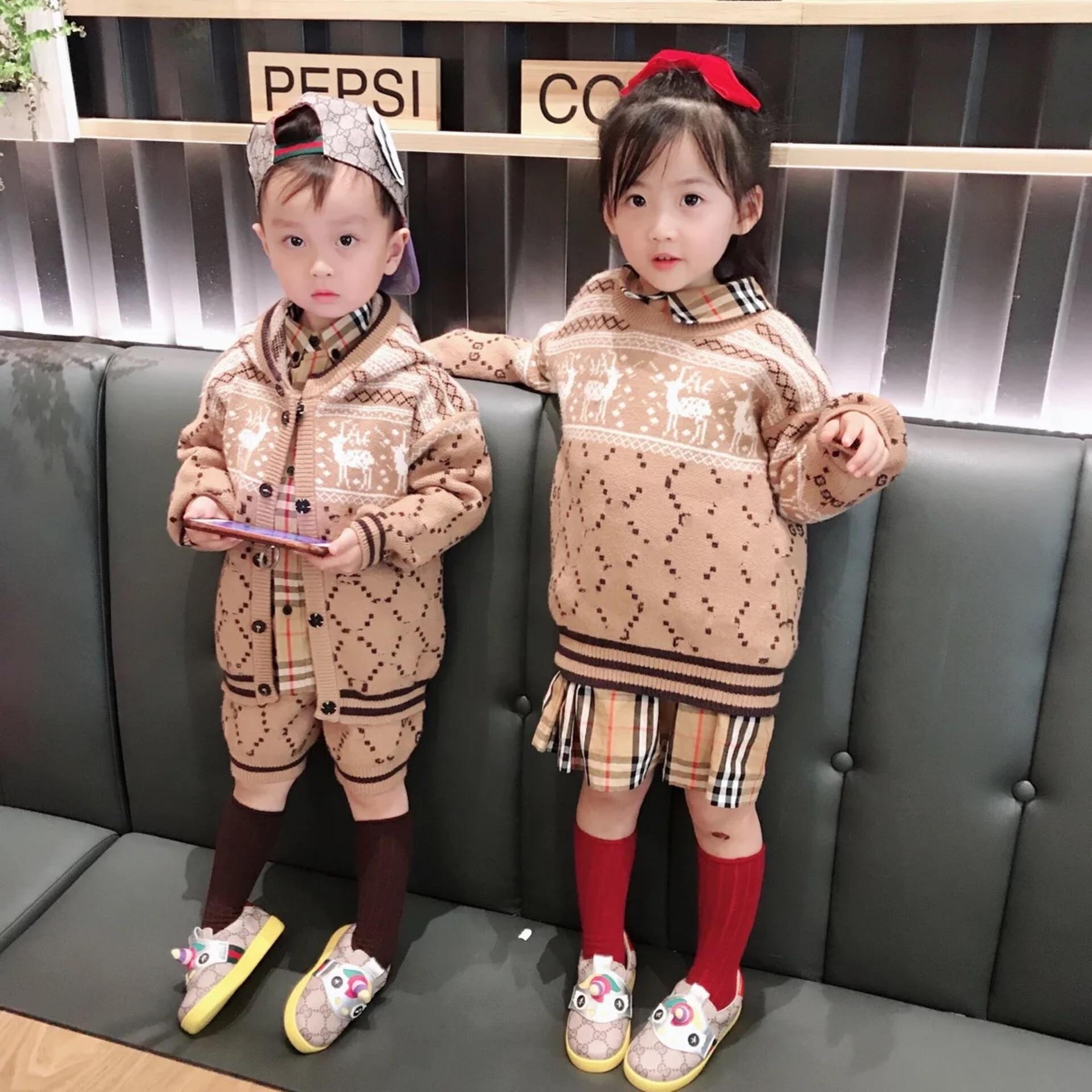 Boys' Sweater 2019 Spring And Autumn Cartoon Western Style Mink Cashmere Sweater Pullover Baby Children Crew Neck Sweater Fashio on AliExpress