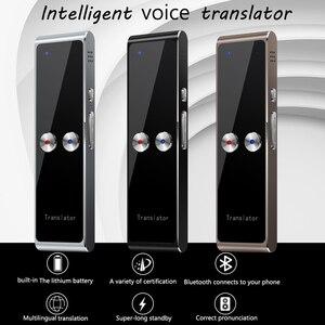 Image 1 - Kebidumei T8 + Портативный Смарт мгновенный в реальном времени голосовой многоязычный s переводчик 40 + языковой перевод голосовой переводчик