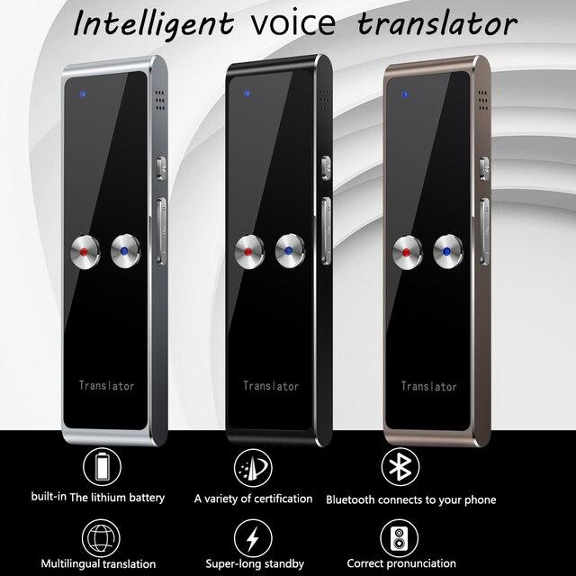 Kebidumei t8 + 휴대용 스마트 인스턴트 실시간 음성 다국어 번역기 40 + 언어 번역 음성 번역기