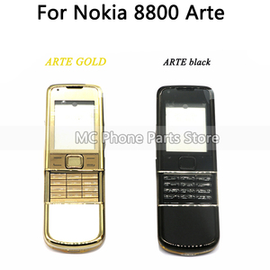 Image 3 - Full Housing For Nokia 8800 Arte Carbon 8800 ARTE Sapphire Back Battery Cover Middle Frame Plate With Keyboard Button