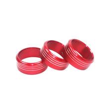 3PC AC pokrętło sterujące klimatem pokrywy pierścienia dla Subaru Impreza klimatyzator pokrętło pierścienie dekoracyjne dla Subaru XV Forester tanie tanio CN (pochodzenie) aluminum alloy 3PCS Aluminum AC Climate Control Knob Ring Covers