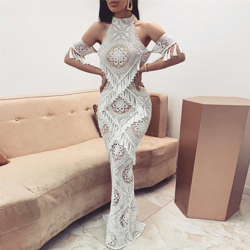 New Arrival White Evening Dresse Formal Half Sleeves Vestido Noiva Sereia Prom Party Robe De Soiree Sexy V-opening Back