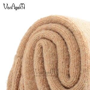 Image 3 - Męskie wełniane skarpety Merino zimowe jednokolorowe wełniane skarpety styl japoński grube zimowe ciepłe
