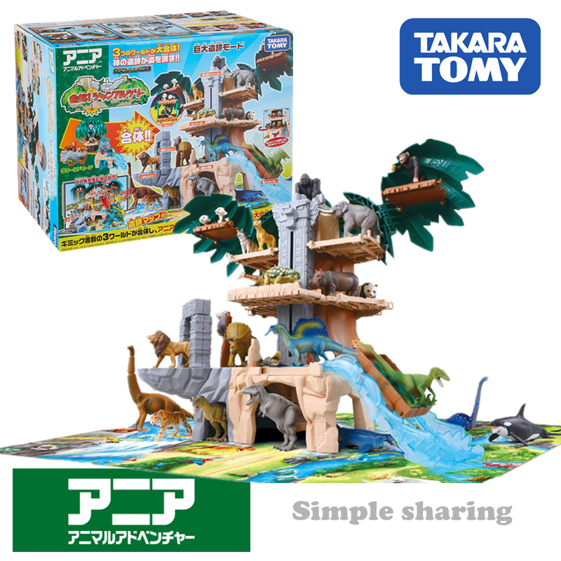 Takara Tomy Tomica Ania Forest Animal Temple Model Kit Diecast Funny Educational Toys For Children
