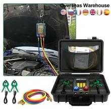 DY517A Car HVAC Manifold Air Conditioning R134a Manifold Digital Refrigeracion Repair Tools Vacuum Pressure Tester