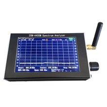 Medida simples handheld profissional do analisador do espectro de 35m-4400m 4.3 Polegada do sinal do interfone com tela do lcd tft 480*800