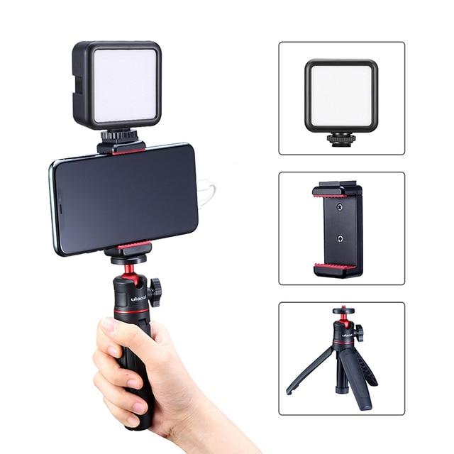 Ulanzi Vlog Living Stream Kit Youtube Kit Mini Statief Telefoon Mount Record Microfoon Kit Verlengen Statief Verticale Opnamen