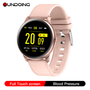 RUNDOING Upgraded KW19 Pro Full Touch Screen Women Smart watch Waterproof sport smartwatch for IOS and Android(China)