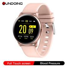 RUNDOING ulepszony KW19 Pro w pełni dotykowy ekran kobiety inteligentny zegarek wodoodporny sport smartwatch dla IOS i Android