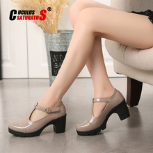 Cuculus 2020 Women Shoes High Heels Casual Mary Jane Platform Shoes Zapatos Mujer Office Party Banquet Chaussures Femme 1081